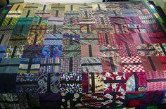 Silk tie quilt  Cauchy09