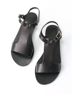 Ancient Greek Sandals Adonia- Black | Creatures of Comfort