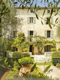 interior design, french country homes, houses, french interiors, dreams, dream homes, villas, shutters, garden