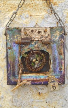 Canvas Collage Assemblage Altered ART