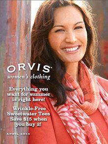 Casual women's clothing and Travel clothes from the Orvis catalog