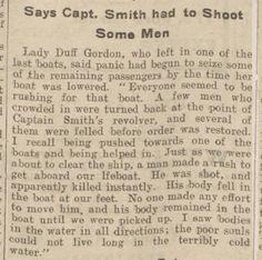 Titanic...passengers shot!