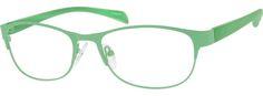 Women's Green 1470 Stainless Steel Half Rim Frame With Plastic Temples | Zenni Optical Glasses-xQSBBinN