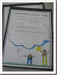 I Can Dream Like Dr. King writing and drawing activity. mlk jr, martin luther, luther king