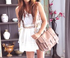 . fashion, purs, messenger bags, summer style, brown bags, white, the dress, summer outfits, spring outfit