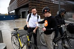 Bike valet service at the new Barclays Center in Brooklyn!
