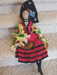 Lenci Spanish Lady Boudoir Doll - Tagged