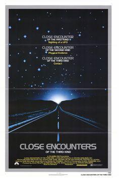 Close Encounters film, movi poster, steven spielberg, close encount, science fiction, third kind, scienc fiction, posters, kind 1977