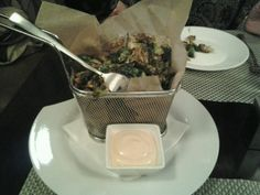 Lattitude - you have to have the fried brussel sprouts and the spicy margarita.  All their food is delicious