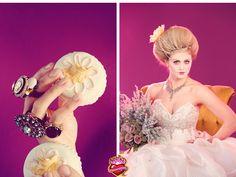 photo: truelovephoto.com make-up: brushworxmakeup.com hair: tinaromo.com flowers: flourishdesign.com model: castimages.com stylist: dacy mcwhorter  cakes: sweetcakesbyrebecca.com