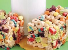 Cheerios® and Trix® Treat Bars... Or even fruity pebbles with Cheerios maybe?