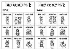 Kindergarten Rocks!: We HEART Daily 5 *lit center/daily 5 sheet for center choice