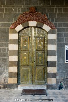 Syria Damascus Churches Syriac Catholic church - bronze door photo