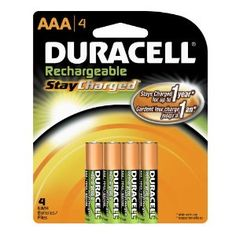#2: Duracell Rechargeables StayCharged AAA Batteries, 4-Count