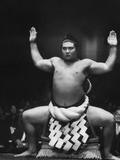 Grand Champion Sumo Wrestler, Taiho Performing Ring Ceremony Before Match Premium Photographic Print by Bill Ray at Art.com