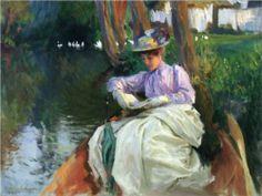 By the River - John Singer Sargent