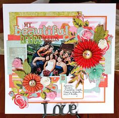 Beautiful Bridesmaids layout using the Cricut and Paper Lace 2 cartridge! #cricut