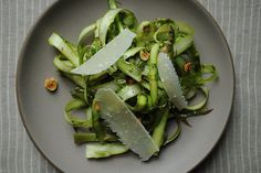shaved asparagus & mint salad