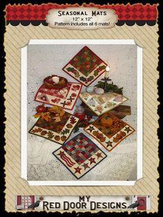 Seasonal Mats pattern now on Craftsy