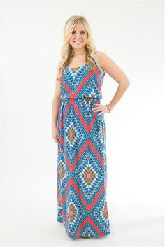 The perfect maxi for tall or petite girls!  www.pinkslateboutique.com