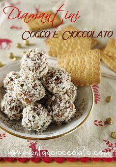 Diamantini Cocco e cioccolato  http://www.mentaecioccolato.com/2012/11/diamantini-cocco-e-cioccolato-per-oro.html