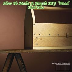How To Make A Simple DIY Wood Tool Box