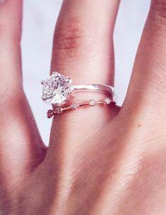 Modern Diamond Rose Gold Wedding Band Ring