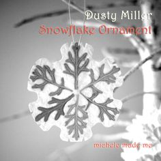 Dusty Miller Snowflake Ornament