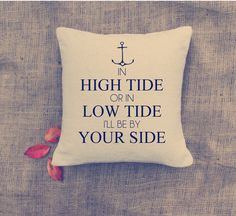 Perfect pillow for the wife of a sailor!