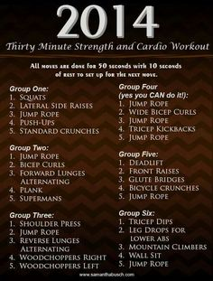 2014 30 minute workout