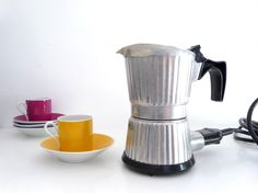Vintage Electric Coffee Maker Percolator - Italian Coffe Pot  - 1970s - 6 cup - made in Italy by Girmi. $ 27.00, via Etsy.