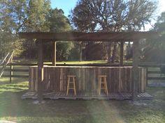 Homemade pallet bar. Wilson Family Farm's pallets