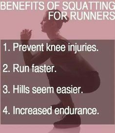 Benefits of squatting for runners