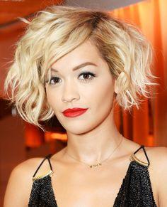 Short curly hair inspo: Rita Ora #InStyle