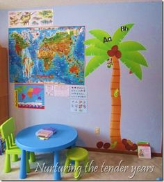 Nurturing the tender years: A tour of our school room- great ideas or room set up