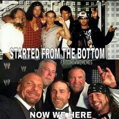 Triple H, Kevin Nash, Shawn Michaels, Scott Hall, & Sean Waltman better known as the Kliq!