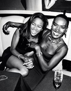 Naomi Campbell and Grace Jones. Studio 54
