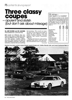 Three classy coupes: Lincoln, Chrysler, Cadillac