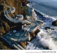 Check out this seaside deck...sign me up!