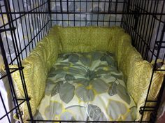 Crate pad, bumpers and cover via Etsy.