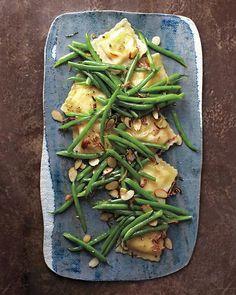 dinner, side dishes, food, shallot ravioli, ravioli salad, green beans, pasta, green bean casserole, thanksgiving sides