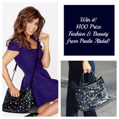 Paula Abdul's latest enterprise--designing handbags and accessories for Avon.