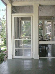 screen porches, the doors, hous, back porches, deck, front porches, screen doors, painted floors, screened porches
