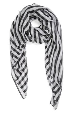 Black and white stripe scarf!