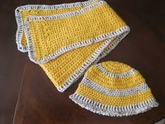 Hat and scarf crochet pattern.  Supposed to be great for beginners!