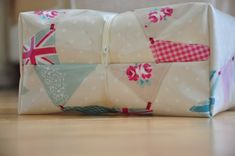 Oilcloth wash bag tutorial for charity