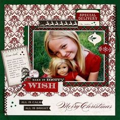 OC_LizQualman with Once Upon a Christmas scrapbook layout