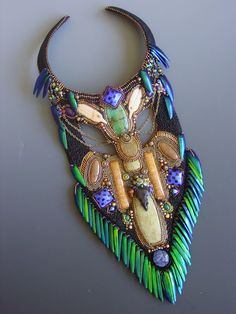 Necklace   Collaboration between Heidi Kummli and Sherry Serafini.  'The Mad Hatter'