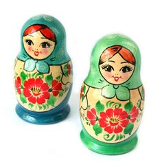 Sweet, cheerful, classically beautiful Russian nesting dolls. #Russian #nesting #dolls #matryoshka #Russia