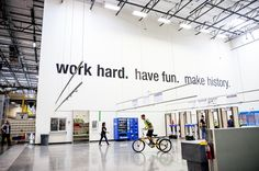 """""""work hard. have fun. make history."""" - The Amazon's Phoenix #warehouse images - 1,500 workers - The """"fulfillment center,"""" or FC–is a uniquely 21st-century creation, a vast, networked, intelligent engine for sating consumer desire. The FC is the anchor of Amazon's physical #operations"""